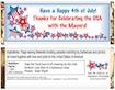 personalized patriotic theme candy bar wrapper